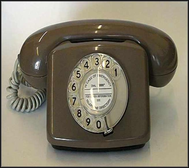 A telephone of the 70's