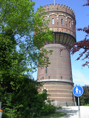 De Delftse watertoren jaren later.